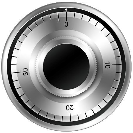 a dial from a combination safe