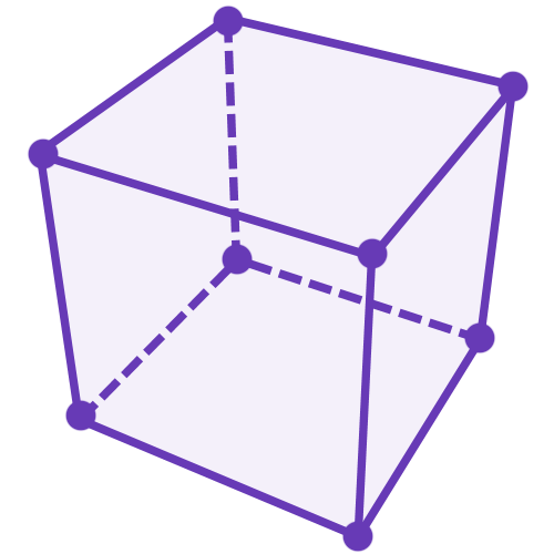 diagram of a cube with 8 ants sat one at each vertex