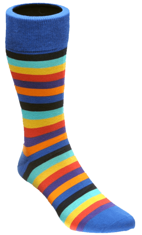 picture of a striped sock